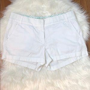 J. Crew Broken-In White Chino Shorts